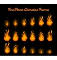 Fire flame animation for fire trap vector image