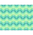 Green dotted waves seamless pattern vector image
