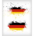 Grunge german ink splattered flag vector image