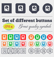 hard disk icon sign Big set of colorful diverse vector image