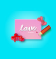 paper note valentine day vector image