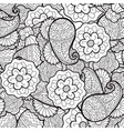 seamless abstract floral pattern fabric vector image