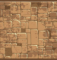 seamless background texture brown stone wall vector image