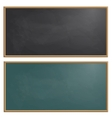 Set drawing board chalk vector image