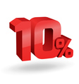 10 percent digits vector image