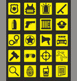 black police icons collection vector image