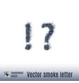 smoke letter vector image