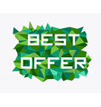 Unusual abstract geometric design vector image vector image