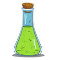 cartoon image of chemical reaction vector image