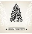 Ornamental vintage christmas card vector image vector image