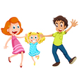 A family laughing vector image vector image