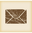 Grungy letter icon vector image