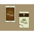 Corporate identity template design For cafe vector image