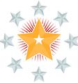 Star circle vector image