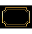 Gold frame Beautiful simple golden black design vector image