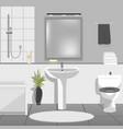Modern bathroom interior with sink bathtub vector image