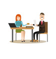 bank people concept in flat vector image