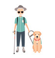 blind man colorful image featuring visually vector image