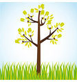 ecological tree bulbs background vector image