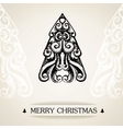 Ornamental vintage christmas card vector image