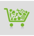 Shopping cart concepts vector image