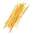 spaghetti pasta uncooked italian pasta macaroni vector image