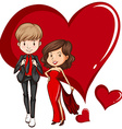 Two gorgeous couple vector image