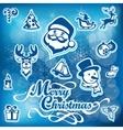 Mary Christmas set vector image