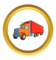 Semi trailer truck icon vector image