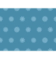 Abstract blue christmas background with snowflakes vector image