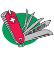 Army knife vector image
