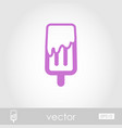 Ice cream outline icon summer vacation vector image
