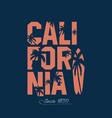 California beach typography graphics vector image