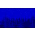 background blue forest vector image