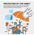 Protection of the family concept vector image