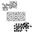 Set of vintage seamless borders Corner Elements vector image