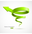Green spiral arrow 3D vector image