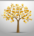 a tree from which gold coins grow vector image