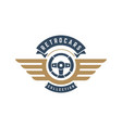 car steering wheel logo template design vector image
