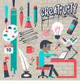concepts for big idea and creativity vector image