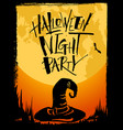 halloween night party card vector image