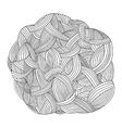 monochrome background Hand drawn ornament vector image