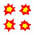 rounded burst stars set Flash blast bright symbols vector image