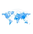 Stylized Map of World vector image