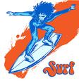 surfer on wave vector image