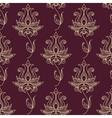 Vintage ethnic flourish seamless pattern vector image