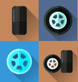 wheel flat design vector image