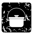 Cooking cauldron icon grunge style vector image