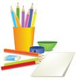 Crayons vector image
