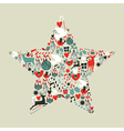 Christmas icons star shape vector image vector image